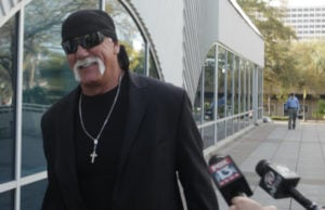 Hulk Hogan outside courthouse (Pool Photo via Tampa Bay Times)