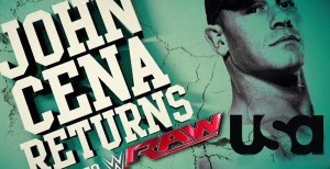 WWE RAW Preview: John Cena Returns, 2 Matches Announced