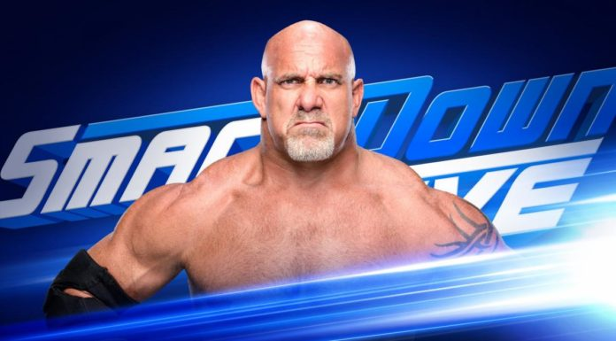 Goldberg will be on SmackDown this week. Image credit: WWE.com