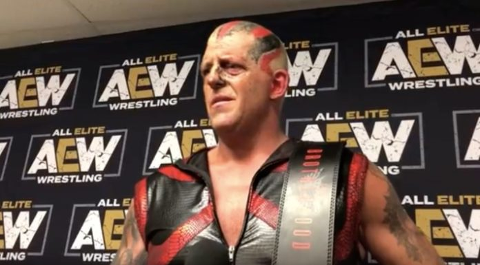 Dustin Rhodes post Fight for the Fallen media scrum