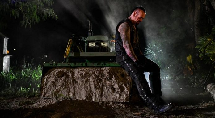 The Undertaker during the shooting of the boneyard match