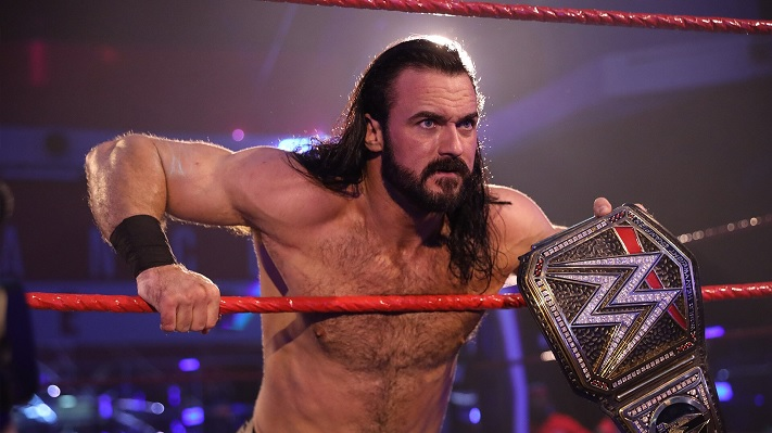 Drew McIntyre with the WWE Championship